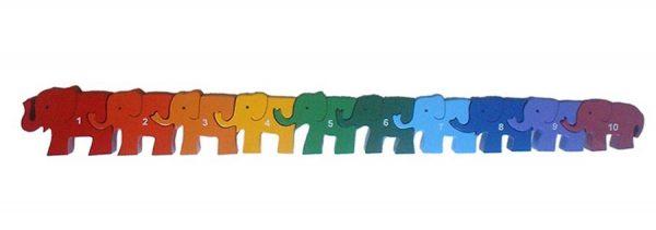 SRI Toys - 10 Elefanter - Klossepuslespill