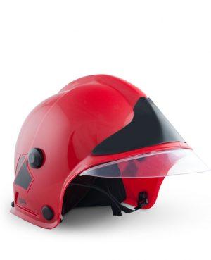 Norsk Brannmann - Rød Hjelm med Visir