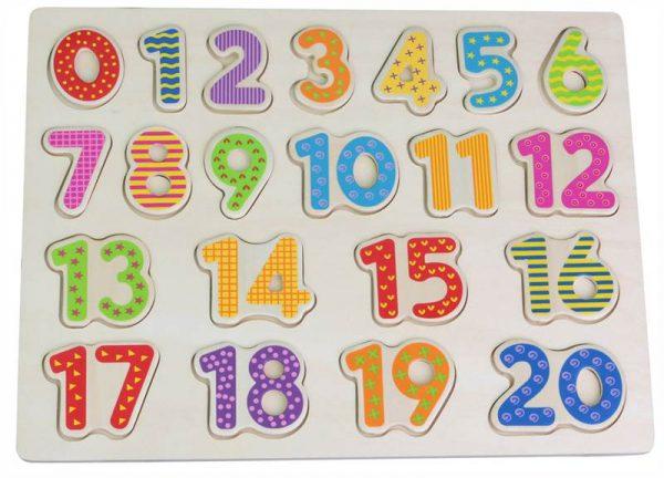 Lelin puslespill med tall