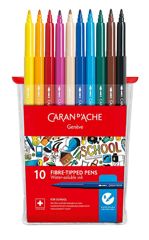 Caran d'Ache fargepenner 10 stk uten lokk