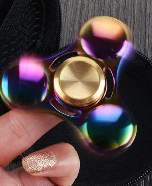 Rainbow fidget spinner