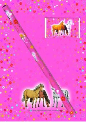 Hest - Notatblokk Med Blyant og Viskelær-0