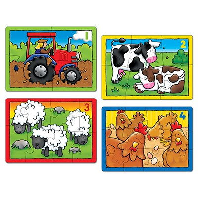 Orchards Toys - Farm Four in a Box Pusslespill
