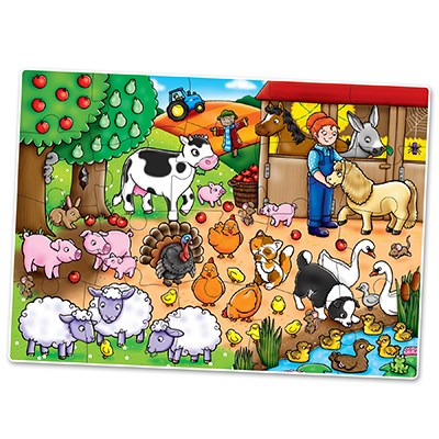Orchard Toys - Who's on the Farm? Pusslespill