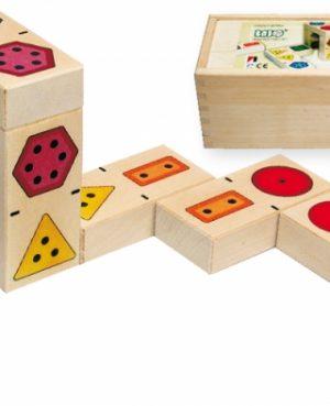 Bajo 3D Domino Nummer-0
