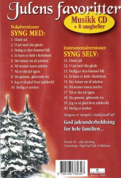 Julens favoritter/syng selv med 8 sanghefter