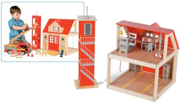 Brannstasjon med innredning