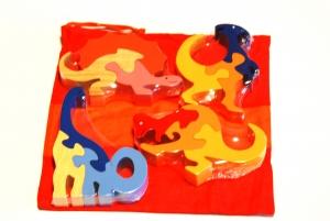 SRI Toys Klossepuslespill Sett Fire Dinosaurer-0