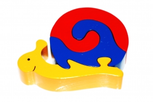 SRI Toys Klossepuslespill Snegle Liten-0
