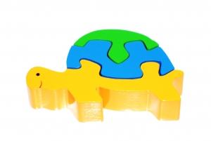 SRI Toys Klossepuslespill Skilpadde-0