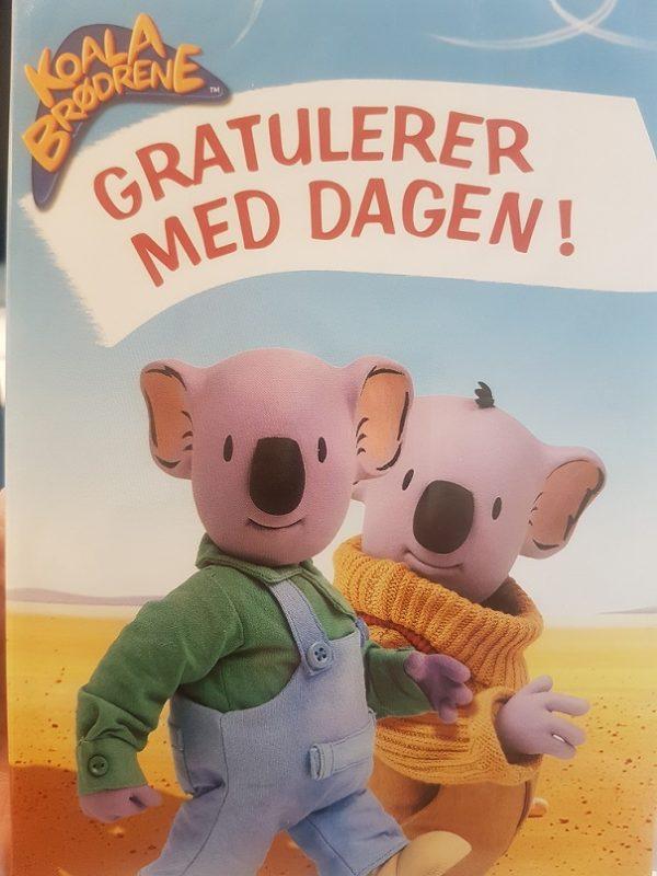 Koala brødrene DVD bursdagskort