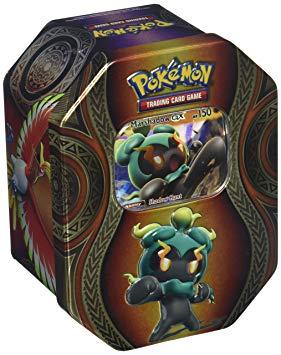 Pokémon kort og tinnboks mysterious powers GX