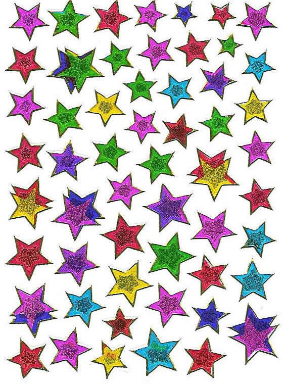 Klistremerker Stjerner