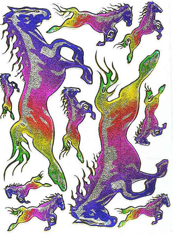 Klistremerker Hest