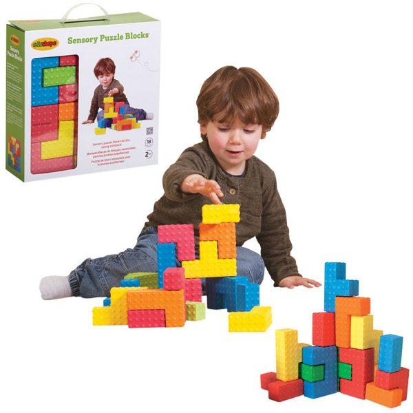 Edushape Sensory Puzzle Blocks-0